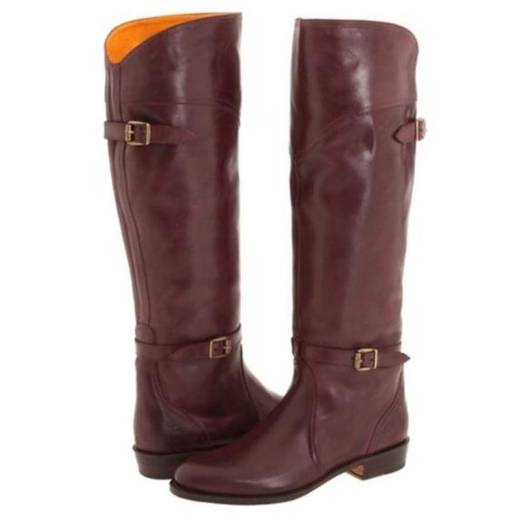 Frye Shoes - Frye Dorado Bordeaux Leather Boots, Size 6M